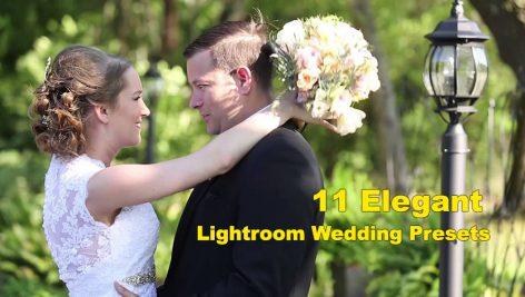 دانلود 11 پریست آماده رنگی لایت روم : عروسی Elegant Wedding Lightroom Presets