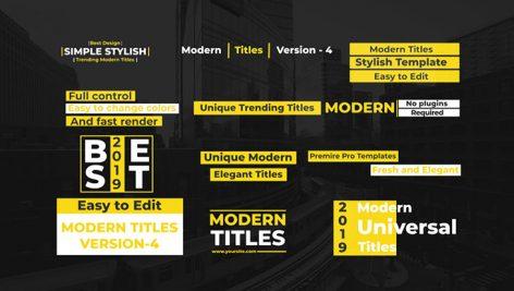 دانلود ۱۲ تایتل آماده متن برنامه پریمیر : Modern Title V4