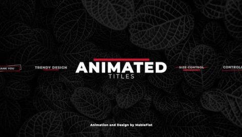 دانلود 18 تایتل آماده متن پریمیر بنام : Animated Titles Pack