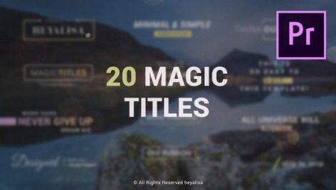 دانلود 20 تایتل آماده پریمیر مدرن : Essential Minimal Simple Titles Pack for Premiere Pro