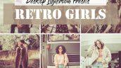 دانلود 20 پریست آماده رنگی لایت روم : Retro Girls Lightroom Presets