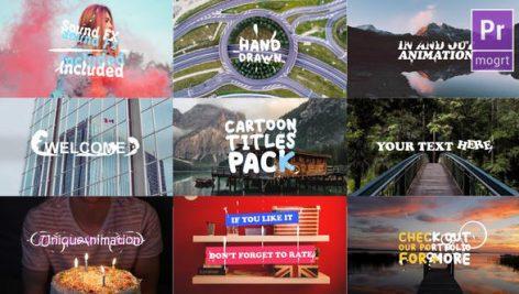 دانلود پکیج تایتل آماده کارتونی پریمیر : Cartoon Titles Pack Premiere Pro MOGRT