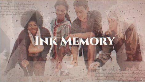 دانلود پروژه آماده افترافکت با موزیک اسلایدشو Ink Memory