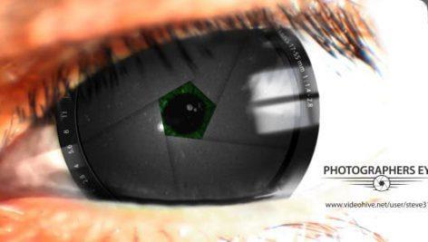 دانلود پروژه آماده افترافکت لوگو آتلیه با موزیک : Photographers Eye Logo