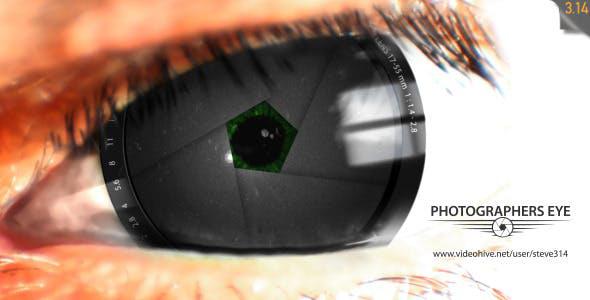 دانلود پروژه آماده افترافکت لوگو آتلیه با موزیک Photographers Eye Logo