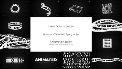 دانلود پروژه آماده تایتل افترافکت فوق حرفه ای Unusual Titles And Typography