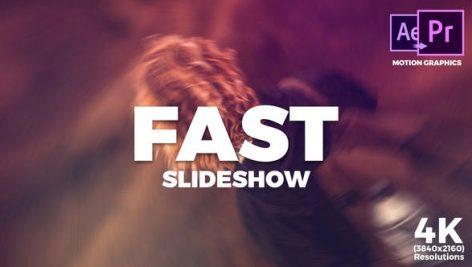 دانلود پروژه آماده پریمیر با موزیک تیتراژ و اسلایدشو Fast Slideshow