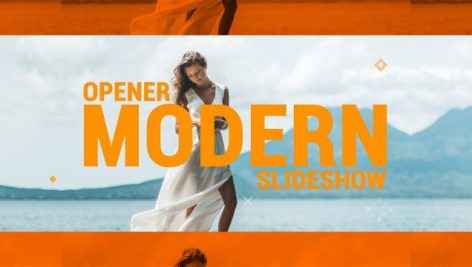 دانلود پروژه آماده پریمیر با موزیک پروژه : اسلایدشو Modern Opener