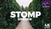 دانلود پروژه آماده پریمیر رزولوشن 4K با موزیک تیتراژ Stomp Opener