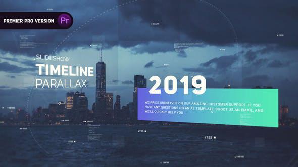 دانلود پروژه افترافکت با موزیک  معرفی شرکت و محصولات Timeline Parallax