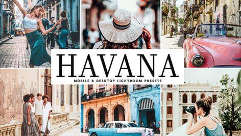 دانلود پریست لایتروم و Camera Raw و اکشن: Havana Lightroom Presets Pack