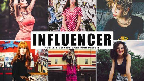 دانلود پریست لایتروم و Camera Raw و اکشن: Influencer Lightroom Presets Pack