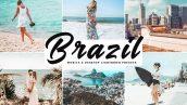 دانلود پریست لایت روم و Camera Raw و اکشن Brazil Lightroom Presets Pack