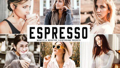 دانلود پریست لایت روم و Camera Raw و اکشن: Espresso Lightroom Presets Pack