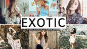 دانلود پریست لایت روم و Camera Raw و اکشن: Exotic Mobile Desktop Lightroom Presets