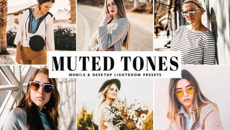 دانلود پریست لایت روم و Camera Raw و اکشن: Muted Tones Mobile Desktop Lightroom Presets