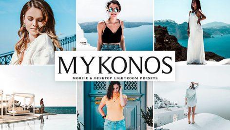دانلود پریست لایت روم و Camera Raw و اکشن: Mykonos Mobile Desktop Lightroom Presets