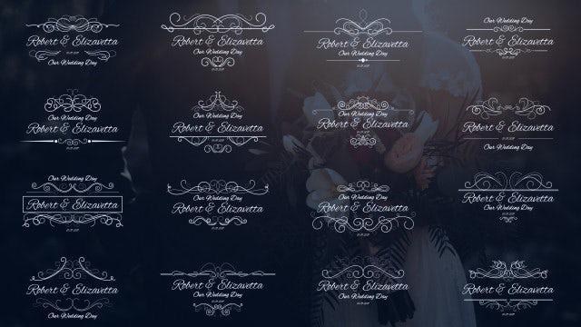 دانلود 16 تایتل آماده متن پریمیر مخصوص عروسی Wedding Calligraphic Titles