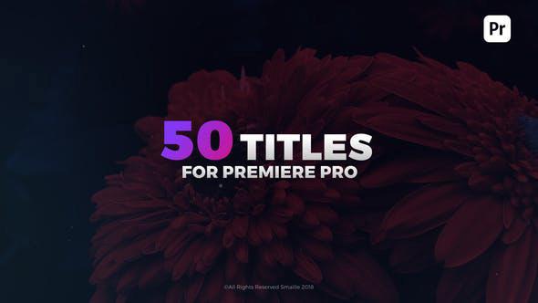 دانلود 50 تایتل آماده پریمیر زیبا و مدرن  Modern Titles