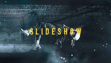 پروژه پریمیر اسلایدشو با افکت گلیچ و نویز و پارازیت Glitch Slideshow