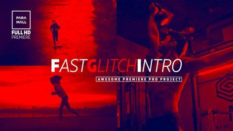 پروژه پریمیر تیتراژ با افکت گلیچ و نویز و پارازیت :  Fast Glitch Intro