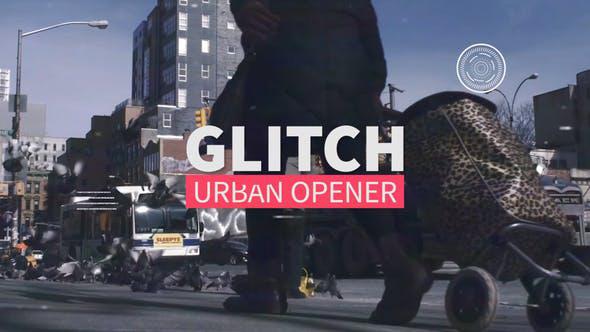 پروژه پریمیر تیتراژ با افکت گلیچ و نویز و پارازیت  Glitch Urban Opener