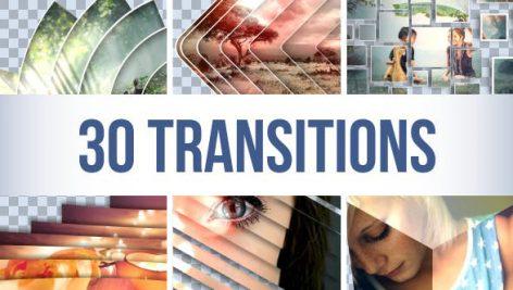 دانلود مجموعه ۳۰ ترنزیشن افترافکت بسیار زیبا : Transitions