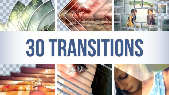 دانلود مجموعه 30 ترنزیشن افترافکت بسیار زیبا : Transitions