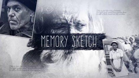 دانلود پروژه آماده افترافکت با موزیک اسلایدشو Memory Sketch