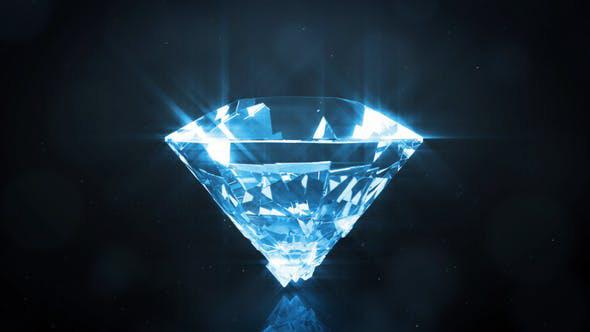 دانلود پروژه آماده افترافکت  لوگو الماسی Luxury Diamond Logo