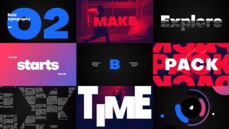 دانلود پروژه آماده تایتل افترافکت با موزیک : Big Titles Typography