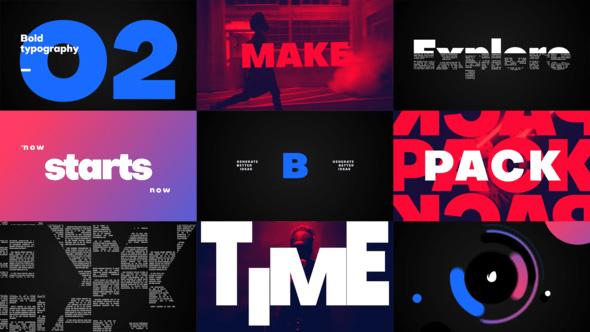 دانلود پروژه آماده تایتل افترافکت با موزیک  Big Titles Typography