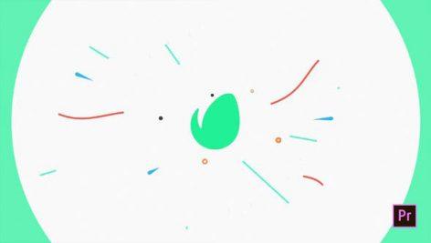 دانلود پروژه پریمیر با موزیک : لوگو و آرم Flat Logo Opener
