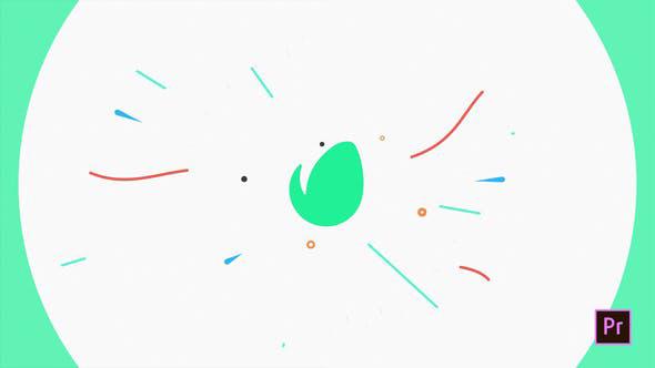 دانلود پروژه پریمیر با موزیک  لوگو و آرم Flat Logo Opener
