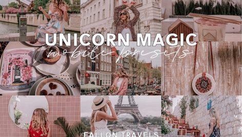 دانلود پریست لایت روم 9 عددی موبایل : Unicorn Magic Mobile Presets