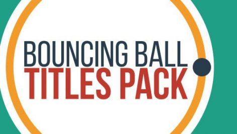 دانلود 20 تایتل بسیار زیبا و حرفه ای افترافکت Bouncing Ball Titles