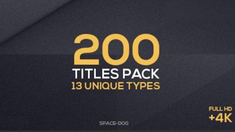 دانلود ۲۰۰ تایتل آماده متن پریمیر حرفه ای: Titles Collection Premiere Pro