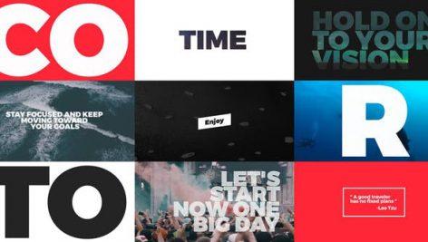 دانلود ۲۱ تایتل آماده پریمیر تایپوگرافی :Typo Opener for Premiere Pro