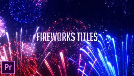 دانلود 9 تایتل آماده پریمیر آتش بازی : Fireworks Titles Premiere Pro