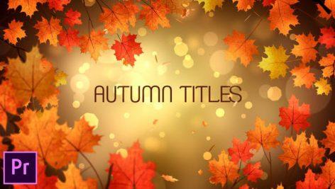 دانلود ۹ تایتل آماده پریمیر پاییزی : Autumn Titles Premiere Pro
