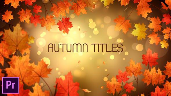 دانلود 9 تایتل آماده پریمیر پاییزی Autumn Titles Premiere Pro