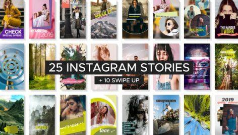 پروژه افترافکت استوری اینستاگرام با موزیک : Instagram Story Templates