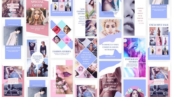 پروژه افترافکت با موزیک  استوری اینستاگرام Fashion Instagram Stories