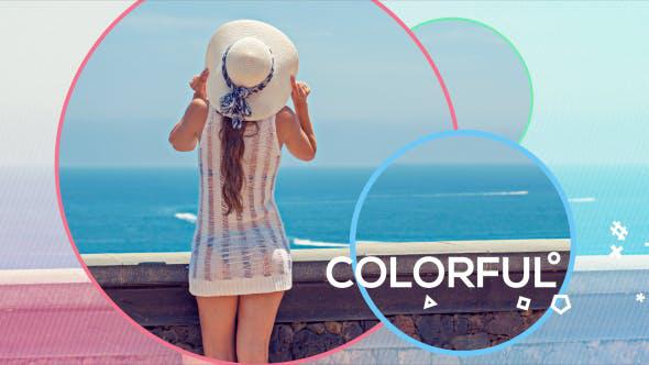 پروژه افترافکت با موزیک  اسلایدشو حرفه ای Colorful Opener