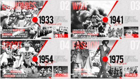 پروژه افترافکت با موزیک : اسلایدشو Moments of History Timeline of Events