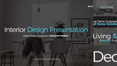 پروژه افترافکت با موزیک : دکوراسیون داخلی Interior Design Presentation