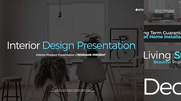 پروژه افترافکت با موزیک دکوراسیون داخلی Interior Design Presentation