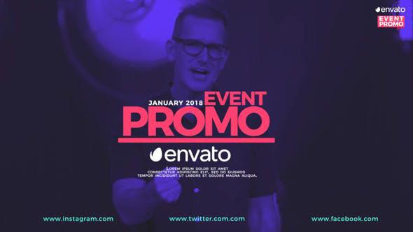 پروژه افترافکت حرفه ای با موزیک  معرفی برنامه Event Promo