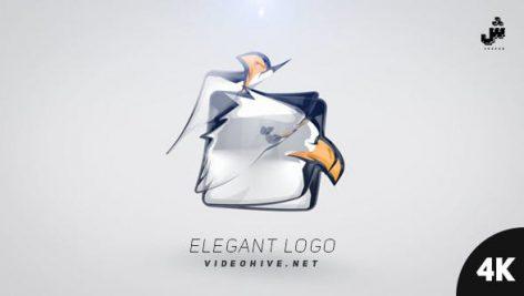 پروژه افترافکت لوگو با رزولوشن ۴K : با موزیک Elegant Logo
