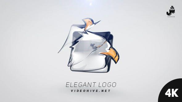 پروژه افترافکت لوگو با رزولوشن 4K  با موزیک Elegant Logo